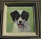 LUCIENNE DE SAINT-MART (1866-1953)miniature painting of spaniel dog