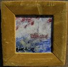 PASCAL CUCARO (1915-2004) impressionist enamel painting noted artist