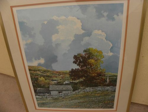 ERIC SLOANE (1910-1985) American art pencil signed print