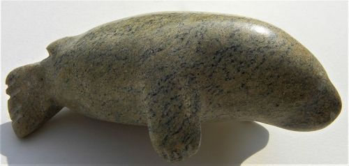 Canadian soapstone Inuit native carving walrus