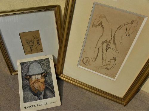 MARCEL-LENOIR (1872-1931) **two** ink drawings by French artist