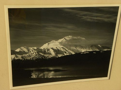 HENRY GILPIN (1922-2011) photograph signed Mt. McKinley Alaska b/w