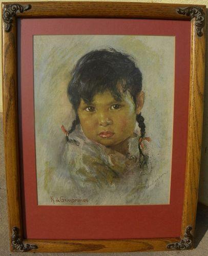 NICHOLAS DE GRANDMAISON (1892-1978) Canadian art hand signed print