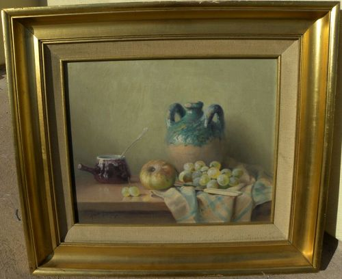 ROBERT CHAILLOUX (1913-2006) fine French still life oil painting