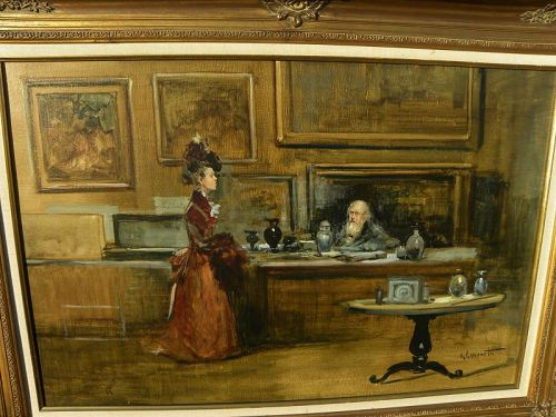 GIORDANO GIOVANETTI (1906-1973) Nineteenth century style painting