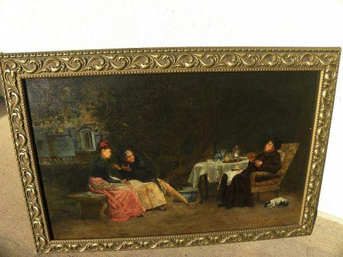 ANTONINO CALCAGNADORO (1876-1935) Italian interior painting