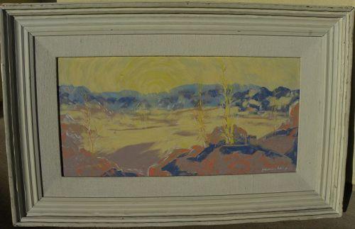 JOHANNES SCHIEFER (1896-1979) impressionist painting California desert