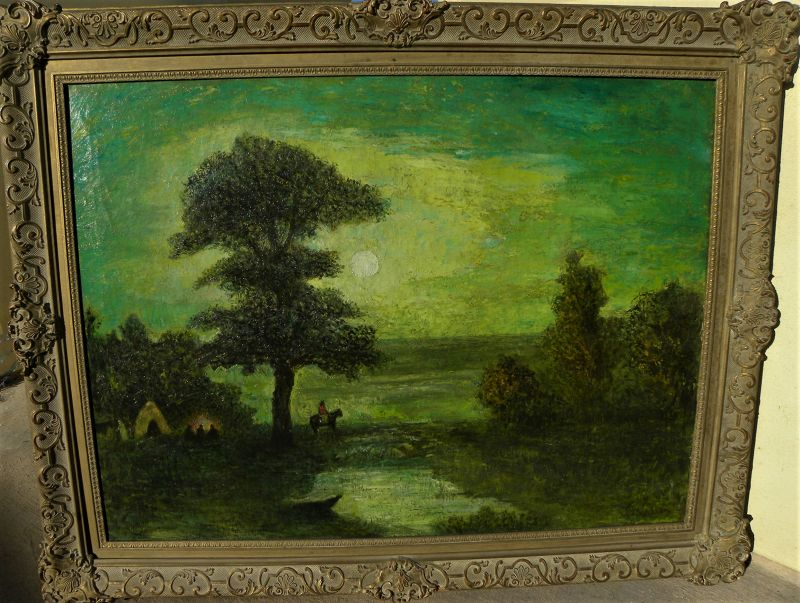 American large landscape painting western Indians style Blakelock