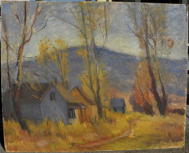 After LeConte STEWART (1891-1990) Utah art landscape painting