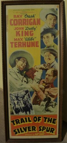 """Original movie poster insert 1941 """"Trail of the Silver Spur"""" Corrigan"""