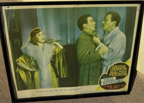 "Vintage movie lobby card ""Julia Misbehaves"" 1948 Walter Pidgeon"