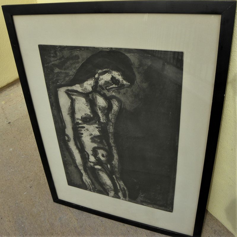 GEORGES ROUAULT (1871-1958) modern French art Miserere etching print