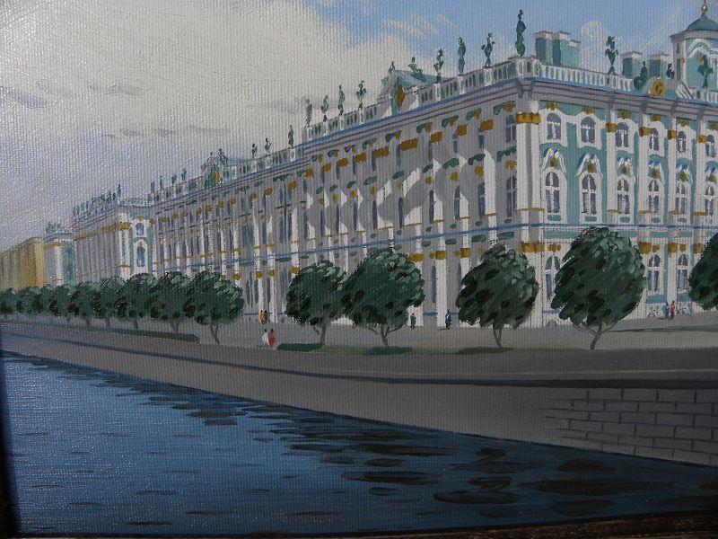 Russian art contemporary painting Winter Palace St. Petersburg