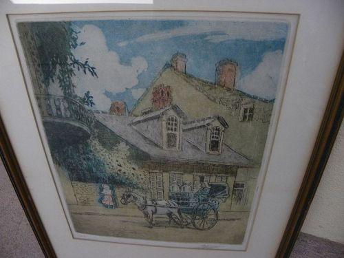 LOUIS OSCAR GRIFFITH (1875-1956) Louisiana art signed etching