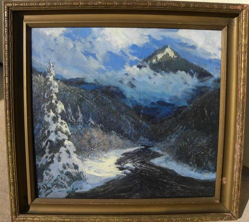 JOHN H. NIEMEYER (1839-1932) impressionist landscape American painting