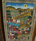 Central American painting colorful landscape art
