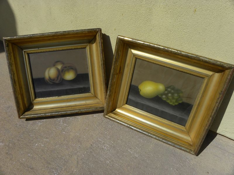American antique still life pastel PAIR possibly by JOHN BOWER