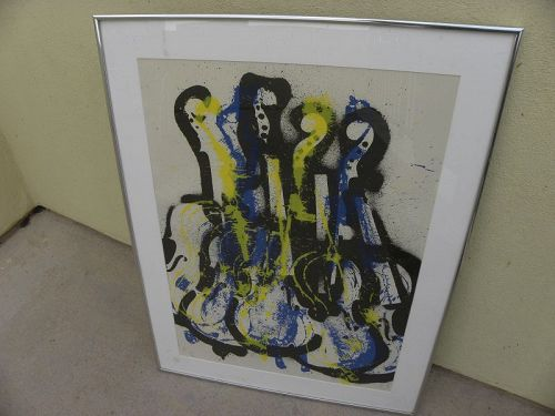 ARMAN (1928-2005) modern lithograph signed by famous assemblage artist