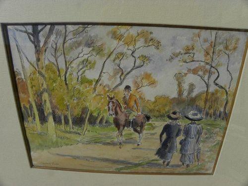 LUDOVICO-RODO PISSARRO (1878-1952) watercolor son of Camille Pissarro