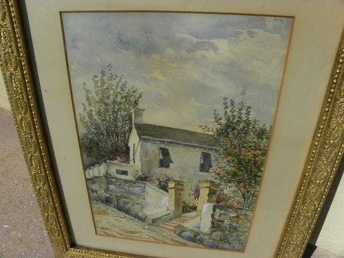 SUSAN FRITH (1843-1924) early Bermuda art watercolor painting