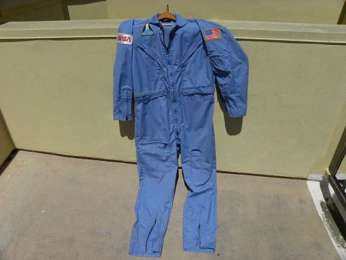 Space Shuttle blue coveralls NASA vintage