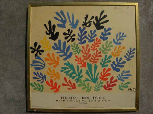 HENRI MATISSE (1869-1954) original UCLA 1966 poster