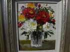 Impressionist colorful contemporary painting roses