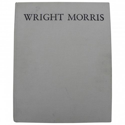 WRIGHT MORRIS (1910-1988) limited signed first edition book on noted American photographer and author