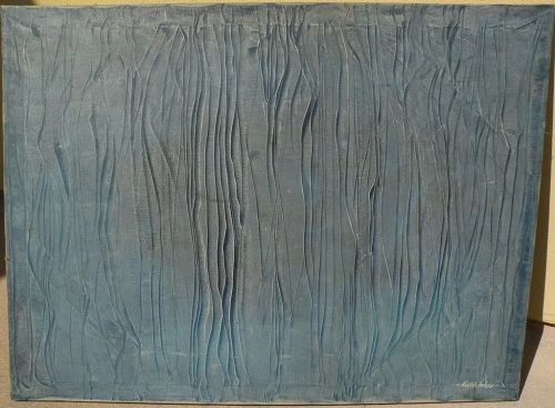 KARL McINTOSH (1940-2009) blue abstract painting signed 1970's