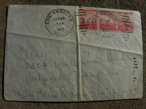 BETTE DAVIS (1908-1989) Hollywood memorabilia hand written letter