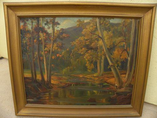 TESS RAZALLE-CARTER (1888-1972) California impressionist painting