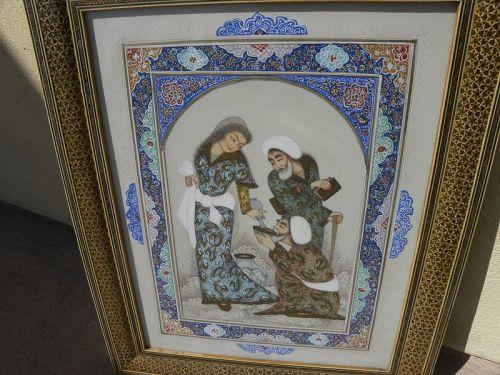 Persian Mughal School contemporary original painting