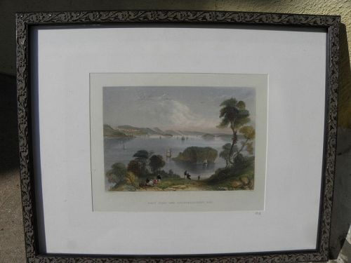 American early engraving of Maine coast after William Bartlett