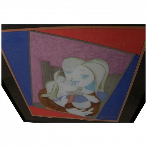 PABLO PICASSO (1881-1973) silk scarf after Cubist 1938 painting