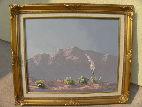 KATHI HILTON (1939-) California art plein air desert painting