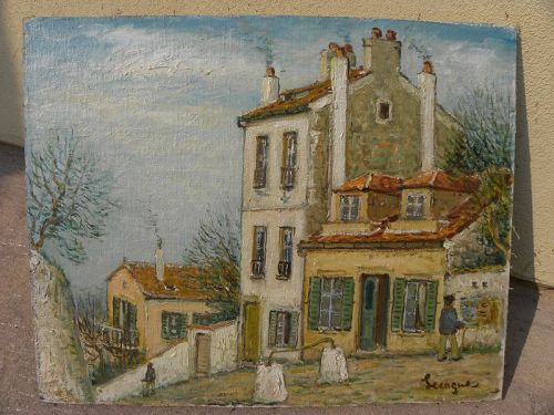 ALOIS LECOQUE (1891-1981) impressionist painting by French artist