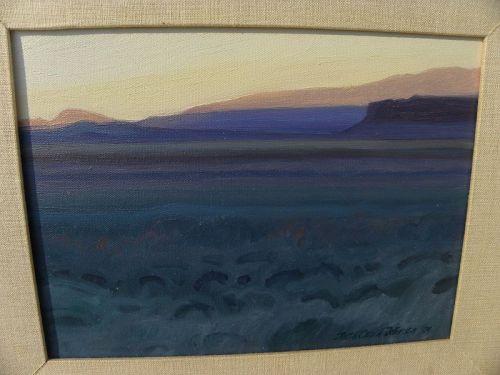 RUTH OSEID JOHNSON impressionist desert painting contemporary