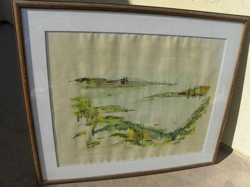 ALFRED BIRDSEY (1912-1996) watercolor painting Bermuda landscape
