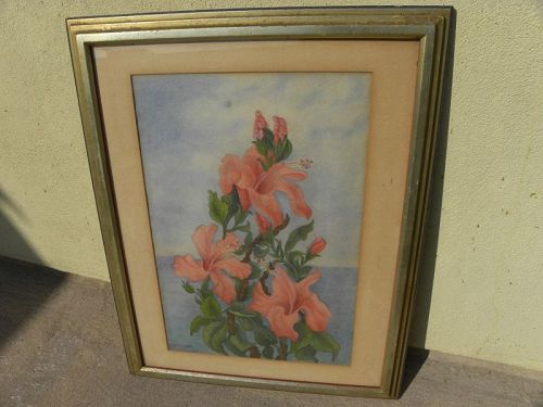 California watercolor floral painting by MARCIA PATRICK (1875-1964)