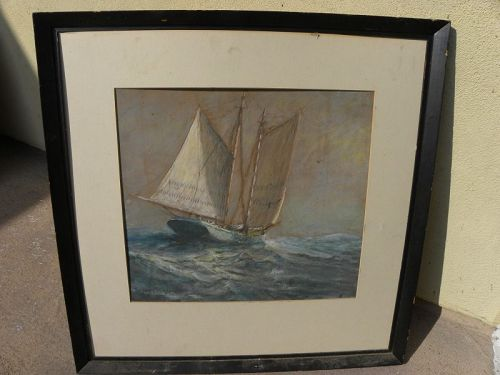GILBERT T. MARGESON (1852-1949) marine painting Rockport artist