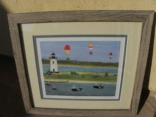 KATHY O'NEIL contemporary Cape Cod naive folk artist print ltd. signed