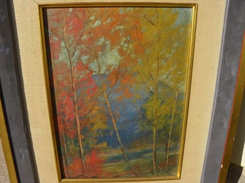 DAVE STIRLING (1887-1971) Colorado art autumn impressionist painting