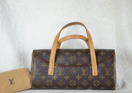 MPRS Auth LOUIS VUITTON Monogram canvas Sonatine purse handbag