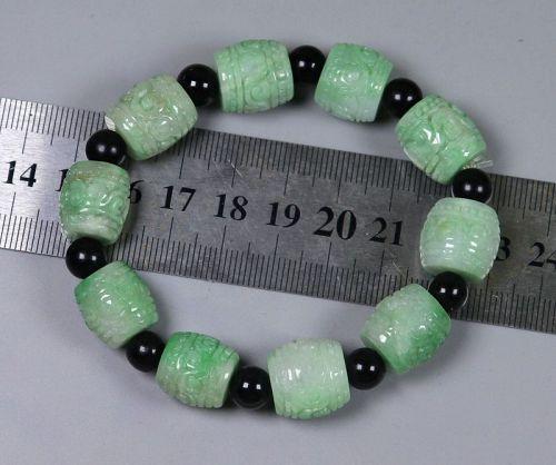 14*14*14 mm BEAD 54.96 g Cert'd Green Natural A JADE jadeite Moire Bra
