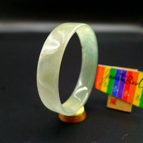 52.4mm Certified 100% Natural Grade A Jadeite Jade Bracelet Bangle