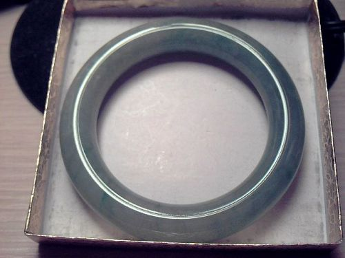 Icy Emerald Apple Green Jadeite Bangle Bracelet 56.5mm《Grade A》