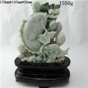 100% Natural Jadeite A Jade Statues(With Authentic certificate)