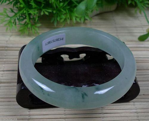 Certified Natural translucent Floating flowers Emerald Bracelets 56 mm
