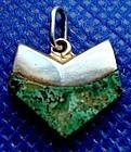 Replacement Earring Hallmarked Ledesma Azur-malachite