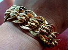 Vintage Goldtone Napier Link Bracelet Hallmarked